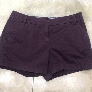 J.crew chino burgundy shorts